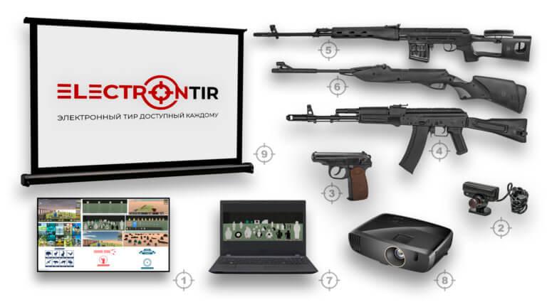 Лазерный тир интерактивный ⋆ТИР ЭЛЕКТРОН⋆ комплект 6